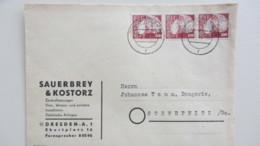SBZ: Fern-Brief Mit 8 Pfg Köpfe I Senkr. Streifen Aus Dresden A 1 Vom 16.5.49 Nach Schwepnitz  Knr: 214 (3) - Zone Soviétique