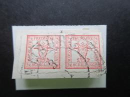 AD Mecklenburg Schwerin Nr. 5 2/4 S Mit Stempel K2 Hamburg Auf Kleinem Briefstück! - Mecklenburg-Schwerin