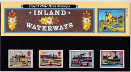 GB GREAT BRITAIN 1993 INLAND WATERWAYS PRESENTATION PACK No 239 +ALL INSERTS HORSES BARGE BOATS STEAM SHIPS BARGES HORSE - Schiffe
