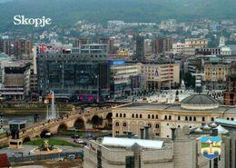 1 Ak Mazedonien * Blick Auf Skopje - Die Hauptstadt Von Mazedonien – Luftbildaufnahme * - Macédoine