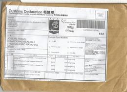 HONG KONG CC CERTIFICADA CUSTOM FORM LABEL  ON COVER - Otros