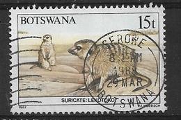 BOTSWANA  1987 Animals Of Botswana     Used   Meerkat (Suricata Suricatta) - Botswana (1966-...)