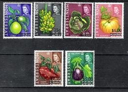Montserrat 1968 Definitives Surcharges MNH CV £4.20 - Montserrat