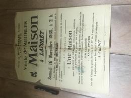 LAFORET 1935 Vente Maison écurie Bois - Affiches