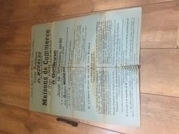 GEDINNE 1946 Vente Meubles De Maisons De Commerce - Grand Format - Affiches