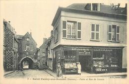 80 SAINT VALERY SUR SOMME Porte Et Rue De Nevers épicerie Centrale  2scans - Saint Valery Sur Somme