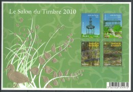 """FR Bloc YT 130 BF """" Salon Du Timbre, Jardins De France  """" 2010 Neuf** - Blocs & Feuillets"""
