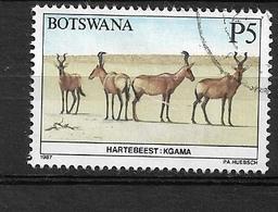 BOTSWANA  1987 Animals Of Botswana     Used  Kongoni / Hartebeest (Alcelaphus Buselaphus) - Botswana (1966-...)