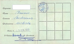 """09047 """"TESSERA NR. 452 - ASSOCIAZIONE ARTIGIANI DELLA LOMELLINA - MEDE (PAVIA) - 1959"""" ORIG. - Biglietti D'ingresso"""