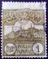 Saint Marin San Marino 1903 Mont Titan Yvert 43 O Used Usato - Used Stamps