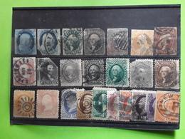USA / ETATS UNIS   Lot De 24 Timbres Neufs Et Obl FORTE COTE HIGH VALUE - 1847-99 Algemene Uitgaves