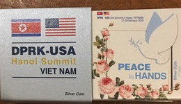 Set 2 Vietnam Viet Nam Commemorative Silver Coins Series 1 & 2 : US - North Korea Summit 27-28th Of Feb 2019 / 5 Photo - Viêt-Nam