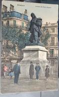 Cpa - 34 - Béziers - Statut De Paul Riquet Allées ( Colorisé) - Beziers