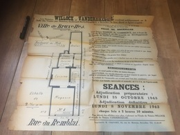 BRUXELLES 1943 Vente Maison De Commerce Rue Remblai + Plan - Affiches