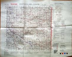 Knezak Fontana Del Conte Slovenija Slovenia Military Map 1:50 000 - Topographical Maps