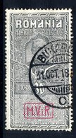 GERMAN MILITARY POST IN ROMANIA 1917 (Sep.) Fiscal Used As Postal Tax 30b. , Used.  Michel VIII - Occupation 1914-18