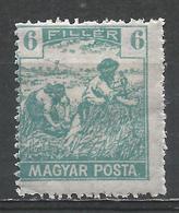 Hungary 1919. Scott #178 (M) Harvesting Wheat * - Neufs