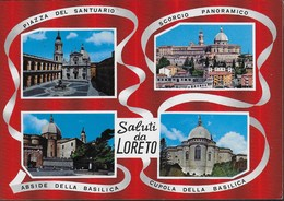 SALUTI DA LORETO - VIAGGIATA 1983 PER L'ESTERO (SVIZZERA) - AFFRANCATA TARIFFA PER L'INTERNO - NON TASSATA - Souvenir De...