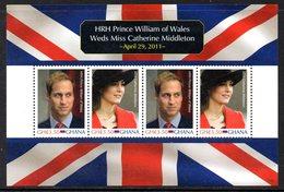 Ghana 3345/46 Et Bf 486 , Mariage Du Prince William Of Wales And Catherine Middleton - Koniklijke Families