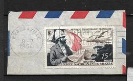 "A.E.F  Poste Aérienne 1951  N° 55 "" Pierre SAVORGNAN De BRAZZA "" - Used Stamps"