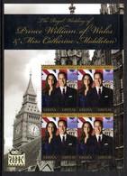 Ghana 3347 Et Bf 487 Prince William & Kate Middleton , Big Ben , Horloge - Koniklijke Families