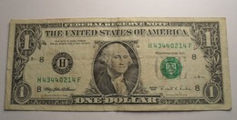 1995 - Etats Unis - USA - ONE DOLLAR, Washington, Séries 1995 - B 8 - H43440214F - Billets De La Federal Reserve (1928-...)