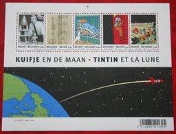 Kuifje Tin Tin Moon Space OBC N° 3249-3253 109 (Mi 3298-3302 Bl 93) 2004 POSTFRIS MNH ** BELGIE BELGIEN / BELGIUM - Belgien