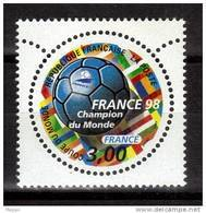 FRANCE  N° 3170    * *   SURCHARGE  Cup 1998 Football  Soccer  Fussball - Coupe Du Monde