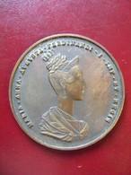 Ancienne Médaille De Table Bronze SISSI Impératrice - Royal/Of Nobility