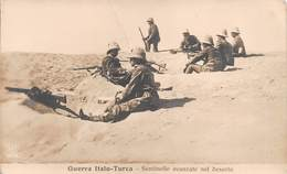 """09061 """"LIBIA - GUERRA ITALO-TURCA - SENTINELLE AVVANZATE NEL DESERTO - 1911"""" CART NON SPED - Libye"""