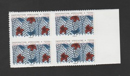 "FRANCE / 2019 / Y&T N° AA 1660A ** : ""Inspiration Africaine"" (de Feuille Adhésive) TVP LP X 4 Dont 2 BdF D - Adhesive Stamps"