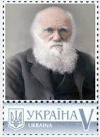 Ukraine 2018, Great Scientists Of The World, Darwin, 1v - Ukraine