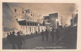 """09065 """"LIBIA - TRIPOLI - COMANDO GENERALE"""" ANIMATA.  CART NON SPED - Libia"""