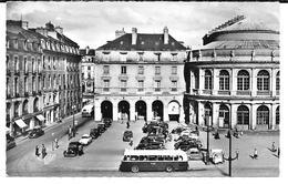 Cpa Photo Rennes -Le Théâtre / Voitures Et Bus Des Sixties . - Rennes