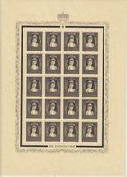 Liechtenstein 1947 Trauermarke Fürstin Elsa 1v Complete Sheetlet (shtlt Mh, Stamps Are ** Mnh) (F7699) - Liechtenstein
