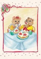 Mice Have Parties - Eating Gateau Cake - Mouse - Souris - Muis - Maus - Topo - Rato - Ratón - Marja-Liisa Pitkäranta - Animaux & Faune