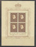 Liechtenstein 1939 Definitive / Fürst Franz Jozef 5fr Sheetlet ** Mnh (42178) - Liechtenstein