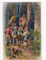 8 - LE PETIT POUCET Suit Ses Frères Et Parents Dans La Forêt  - En Relief * - Contes, Fables & Légendes