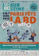 Flyer Papier Format 15x21 Pour Paris Fête La BD Les 6 Et 7 Avril 2019 - Publicités