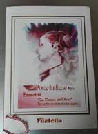 """FOLDER """"LA DONNA NELL'ARTE"""" 1999 + 10 TESSERE FILATELICHE RACCHIUSE IN COFANETTO - Timbres"""