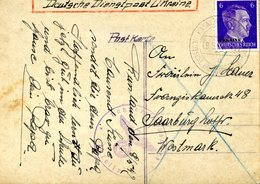 2 Cartes Postales De Kiev 'Ukraine). Deutsche Dienstpost Ukraine KASATIN (KOSJATYN) - Allemagne