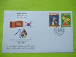 SRI LANKA (CEYLON)   SRI LANKA - KOREA DIPLOMATIC RELATIONS 40TH ANNIVERSARY  FDC - Sri Lanka (Ceylan) (1948-...)