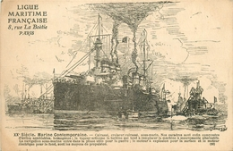 LA MARINE FRANCAISE - 1910 - CUIRASSE - CROISEUR CUIRASSE, SOUS-MARIN - Bateaux