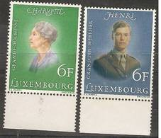 Luxembourg - 1976 Royal Anniversaries MNH **   SG 962-3 - Luxembourg