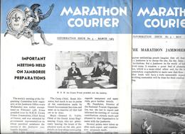 2 Journaux SCOUT -  MARATHON COURIER (en Anglais)  Mars Et Mai 1963 - PREPARATION DU JAMBOREE Avec CHANT Et PROGRAMME - Scoutisme