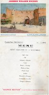 Menu Cherry Johnnie Walker Whisky  Messageries Maritimes - Menus