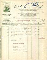 "PARIS.LEVALLOIS PERRET.PARFUMS & SAVONS  "" ERASMIC "" 129 RUE VICTOR HUGO. - Chemist's (drugstore) & Perfumery"