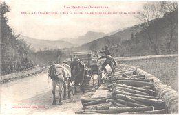 FR66 ARLES SUR TECH - Labouche 530 - Charretiers Chargeant La Douelle - Attelage - Gros Plan - Animée - Belle - Francia