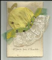 Carte Sainte Catherine - Important Bonnet De Ste.Catherine - Dentelle - Belles Couleurs - Réf.33 - Sainte-Catherine