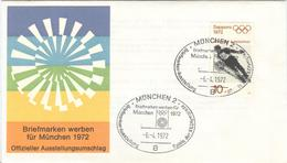 GERMANY Olympic Cover With Handcancel Stamp Exhibition München 2 Of -6.-4.1972 On Olympic Stamp - Summer 1972: Munich